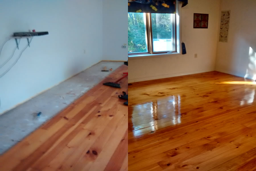 Hardwood Flooring Job